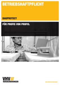 Werbeprospekt Betriebs-Haftpflichtversicherungen