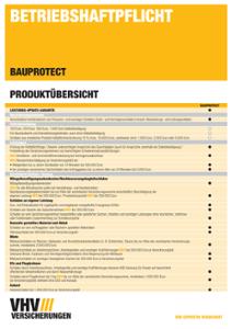 Produktübersicht BAUPROTECT
