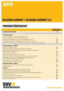 Produktübersicht KLASSIK-GARANT (Kfz)