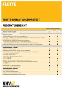 Produktübersicht Flotte-GARANT-ARCHIPROTECT