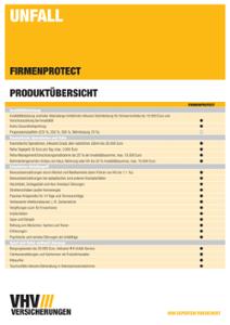 Produktübersicht FIRMENPROTECT Unfall