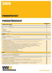 FIRMENPROTECT Produktübersicht